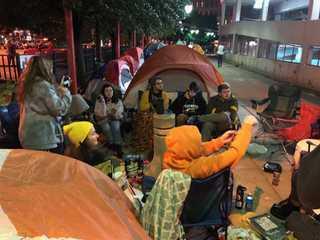 Twenty One Pilot fans camp out ahead of concert