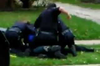Video goes viral, man punched by Akron police