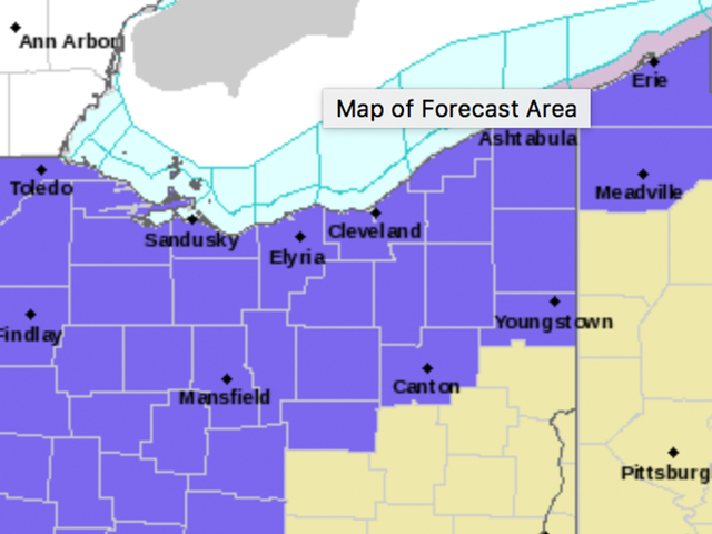 Winter Weather Advisory issued for NEO on Thurs.