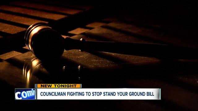 Cleveland councilman to start effort opposing proposed -stand your ground- law