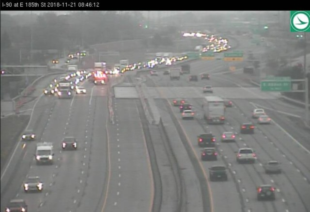 Traffic Alert: Crash on I-90 westbound at E. 185th Street ...
