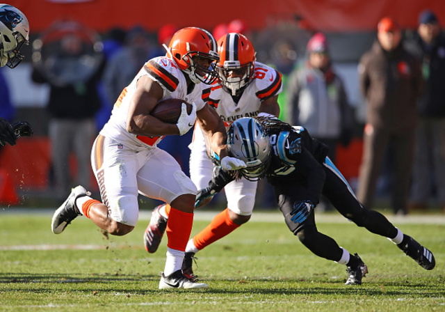 Browns send Panthers fifth straight loss