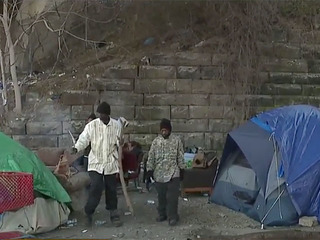 Homeless tent city in Cleveland raises concerns